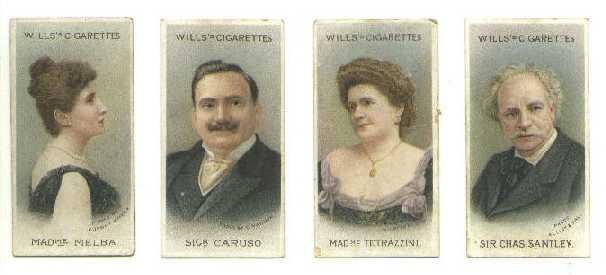 Nellie Melba, Enrico Caruso, Luisa Tetrazzini, Charles Santley - ideal sources of singing instruction